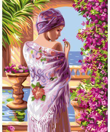 Картина по номерам Терасса в цветах 40 х 50 см (BK-GX24107)  - Фото 1