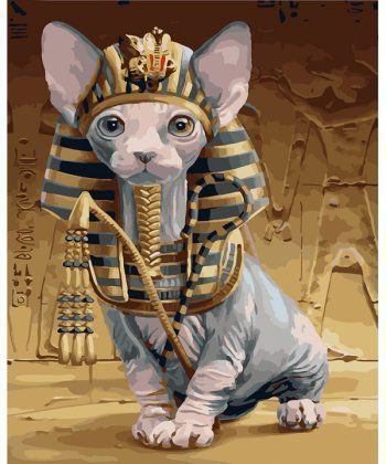 Картина по номерам Кошка фараона 40 х 50 см (BK-GX25222)  - Фото 1