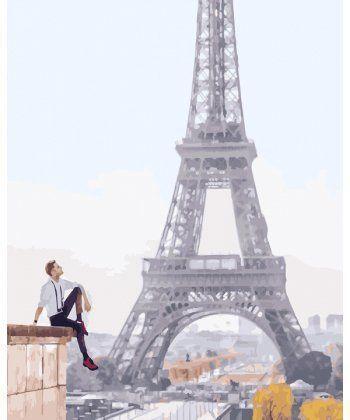 Картина по номерам Его парижские мечты 40 х 50 см (BK-GX25407)  - Фото 1