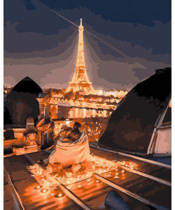 Картина по номерам Ночные крыши Парижа 40 х 50 см (BK-GX25447)  - Фото 1
