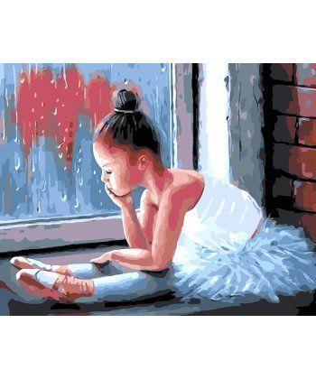 Картина по номерам Маленькая балерина 40 х 50 см (BK-GX25790)  - Фото 1