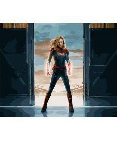 Картина по номерам Капитан Марвел 40 х 50 см (BK-GX27934)