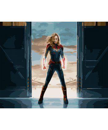 Картина по номерам Капитан Марвел 40 х 50 см (BK-GX27934)  - Фото 1