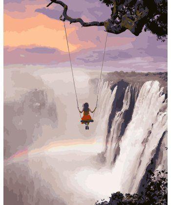 Картина по номерам Над водопадом 40 х 50 см (BK-GX27935)  - Фото 1