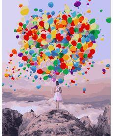 Картина по номерам Букет воздушных шаров 40 х 50 см (BK-GX27954)