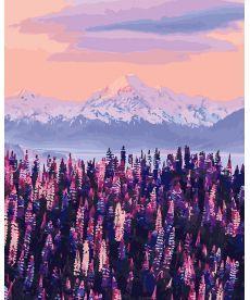 Картина по номерам Лавандовый вид на горы Новой Зеландии 40 х 50 см (BK-GX27967)
