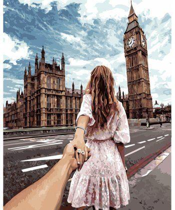 Картина по номерам Следуй за мной Лондон 40 х 50 см (PGX22063)  - Фото 1