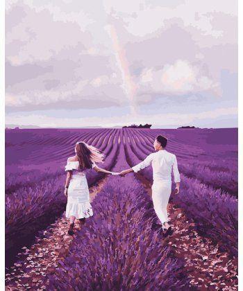 Картина по номерам Влюбленные на лавандовом поле 40 х 50 см (PGX23786)  - Фото 1