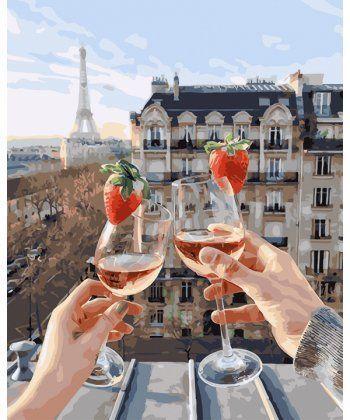 Картина по номерам Шампанское и клубника 40 х 50 см (PGX24907)  - Фото 1