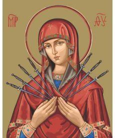 Картина по номерам Богородица Семистрельная 40 х 50 см (BK-GX23025)