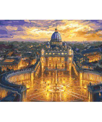 Картина по номерам Собор Святого Петра, Ватикан 40 х 50 см (BK-GX23730)  - Фото 1