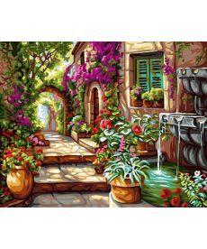 Картина по номерам Уютный садик 40 х 50 см (BK-GX24106)