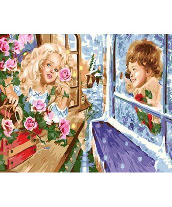 Картина по номерам Кай и Герда 40 х 50 см (BK-GX25940)  - Фото 1