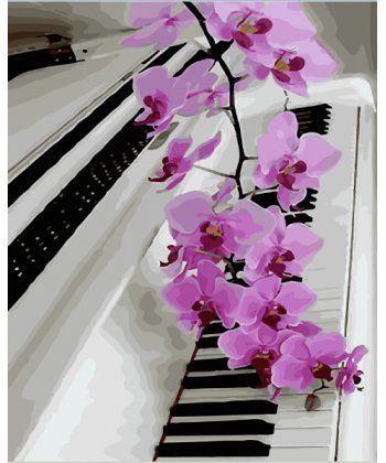 Картина по номерам Розовая орхидея 40 х 50 см (BK-GX28313)  - Фото 1