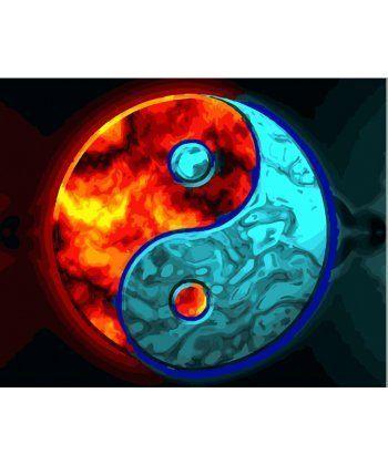 Картина по номерам Инь и Янь 40 х 50 см (BK-GX28316)  - Фото 1