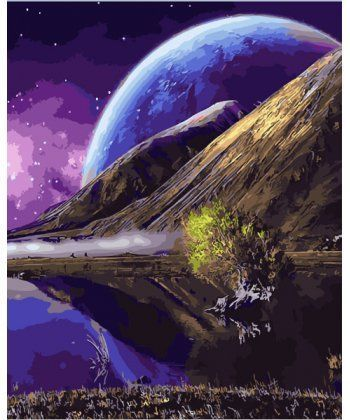 Картина по номерам Фантастический пейзаж 40 х 50 см (BK-GX28319)  - Фото 1