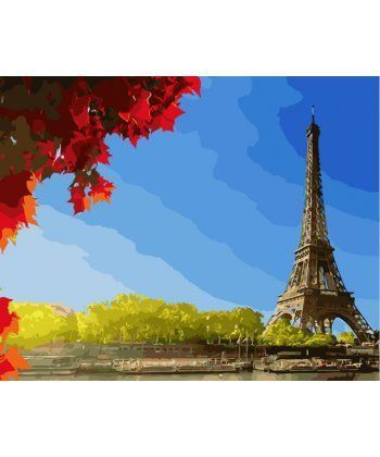 Картина по номерам Клен у Эйфелевой башни 40 х 50 см (BK-GX28320)  - Фото 1