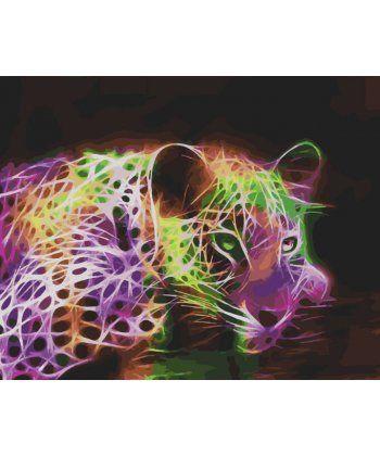 Картина по номерам Неоновый леопард 40 х 50 см (BK-GX28323)  - Фото 1