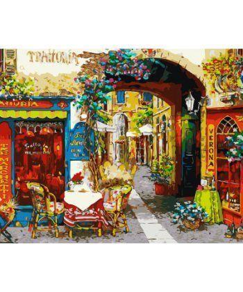 Картина по номерам Уютный ресторанчик 40 х 50 см (BK-GX7196)  - Фото 1