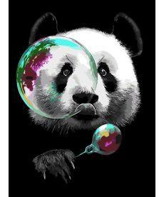 Картина по номерам Панда и мыльные пузыри 30 х 40 см (AS0313)
