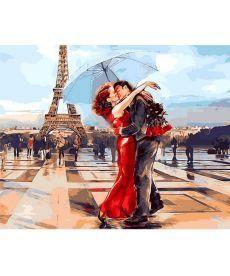 Картина по номерам Париж - город влюбленных 50 х 65 см (QS1431)