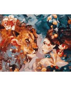 Картина по номерам Ее лев 50 х 65 см (VPS965)