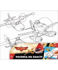 Настольная игра Розмальовка за номерами на полотні вел Дісней Літачки