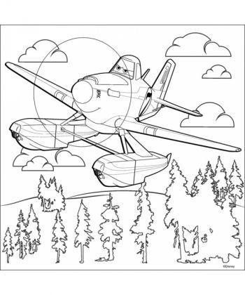 Настольная игра Розмальовка за номерами на полотні мал Дісней Літачки