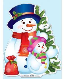 Плакат новорічний.Сніговик