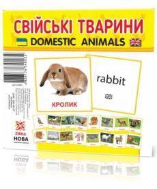 Картки міні Домашні тварини (110х110 мм)