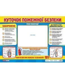 Плакат.Куточок пожежної безпеки(ред.)