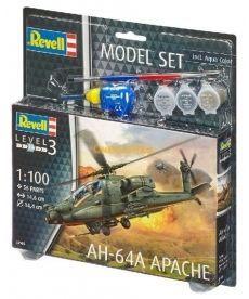 Сборная модель-копия Revell набор Боевой вертолёт AH-64A Апач уровень 3 масштаб 1:100