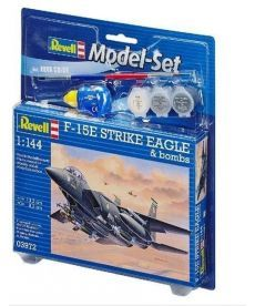 Сборная модель-копия Revell набор Истребитель F-15E «Страйк Игл» уровень 4 масштаб 1:144