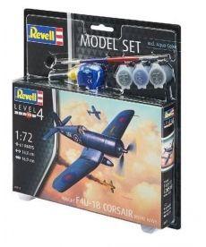 Сборная модель-копия Revell набор Истребитель F4U «Корсар» уровень 4 масштаб 1:72