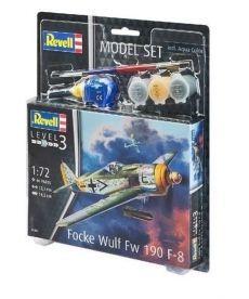 Сборная модель-копия Revell набор Истребитель Focke Wulf Fw190 F-8 уровень 3 масштаб 1:72