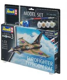 Сборная модель-копия Revell набор Истребитель Еврофайтер Тайфун уровень 3 масштаб 1:72