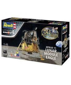 Сборная модель-копия Revell набор Лунный модуль Орел миссии Аполлон 11  уровень 4 масштаб 1:48