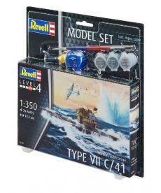 Сборная модель-копия Revell набор Немецкая подводная лодка типа VII C/41 уровень 4 масштаб 1:350