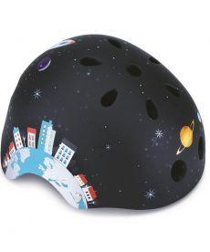 Шлем защитный детский GLOBBER, Ракета черный, 51-54см (XS)