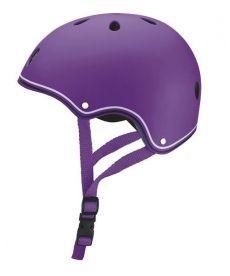 Шлем защитный детский GLOBBER, фиолетовый, 51-54см (XS)