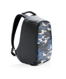 """Рюкзак""""Bobby Compact Camouflage """" синий/защита от краж"""