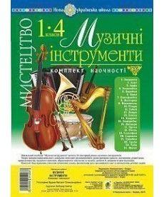 Мистецтво. 1-4 класи. Музичні інструменти. Комплект наочності. НУШ