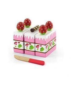 """Игровой набор Viga Toys """"Клубничный торт"""" (51324)"""