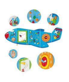 """Игровой центр бизиборд Viga Toys """"Самолет"""" (50673)"""