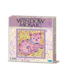 Набор для творчества 4M Мозаика на окно (в ассортименте Бабочка/Дельфин/Котенок) (00-04526)