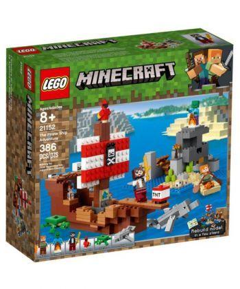 """Конструктор LEGO Minecraft """"Пригоди на піратському кораблі"""""""