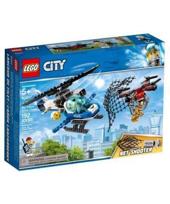 """Конструктор LEGO City """"Повітряна поліція: переслідування з дроном"""""""