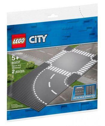 """Конструктор LEGO City """"Поворот і перехрестя"""""""