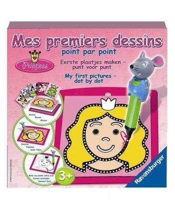 Настольная игра Принцесса (Mes premi. dessins Princess) Рисование по точкам