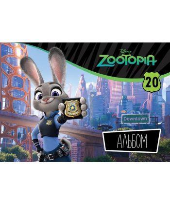 Альбом для малювання ЛІЦ (пруж. 20арк)  Серія Зоотрополіс- Джуді Хопс Ц724006У